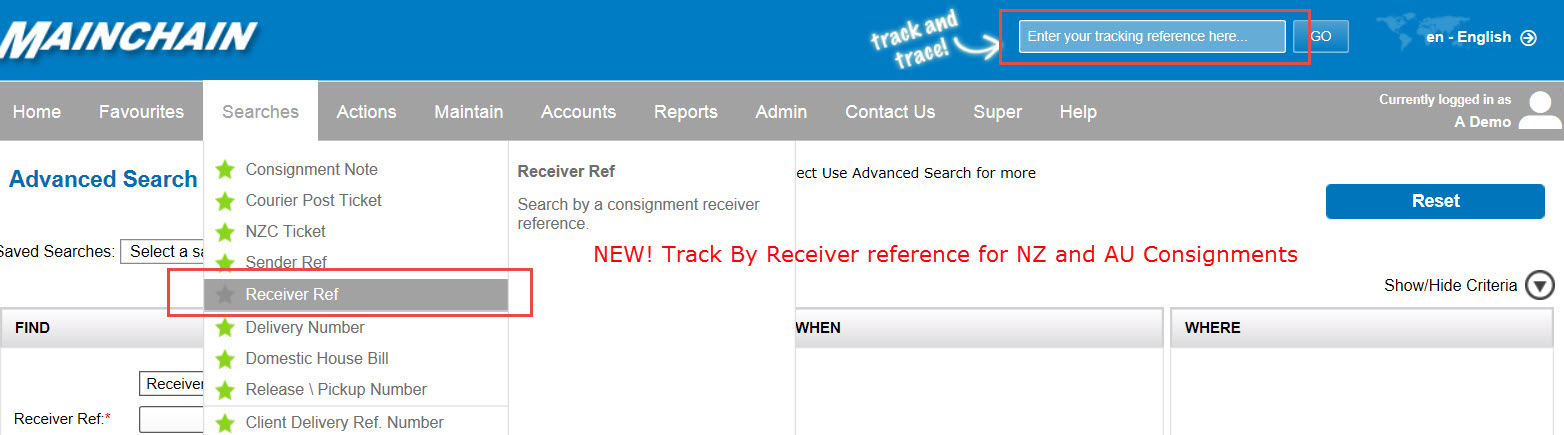 Receiver Reference Tracking